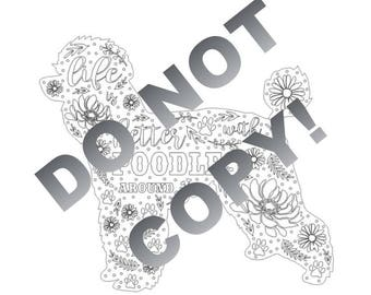 Life is Better with Poodles Around - Downloadable File