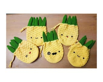 Cute Handmade Pineapple Purse