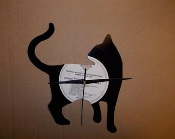 CAT VINYL CLOCK