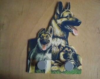 GERMAN SHEPHERD DOG WALL RACK