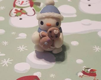 Snowman Baby with Cookie