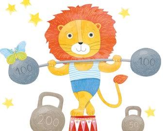 Nursery Zodiac Leo, Nursery Astrology, Zodiac Leo Gift, Leo Baby Boy Gift, Lion Wall Sticker, Lion Wall Decal, Nursery Animal Wall Decal