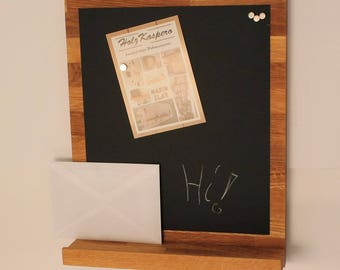Bulletin board / memo Board magnetic Board oak
