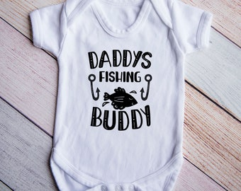Daddys Fishing Buddy Bodysuit, Kids Fishing Shirt, Baby Shower Gift, New Baby Boy Gift, Baby Shower Decor