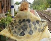 Large Silk Scarf , botani...