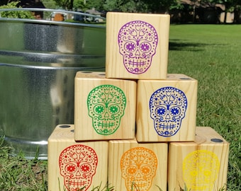 Sugar Skulls Yardzee set, Yard Dice, customized, Day of The Dead