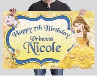 BANNER - Belle Birthday Banner