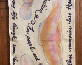 Beatles' song lyrics handwritten on silk scarf.  The song of your choice!!