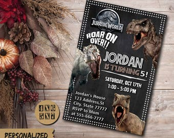 Jurassic World Invitation / Jurassic World Party / Jurassic World Invite / Jurassic World Birthday Invitation / Jurrasic Park Birthday