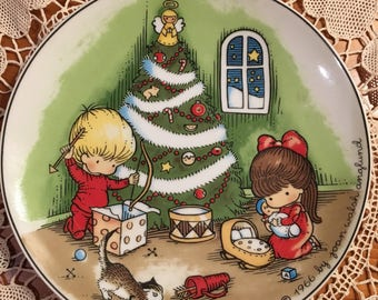 December collectible plate by Joan Walsh Anglund, 1966