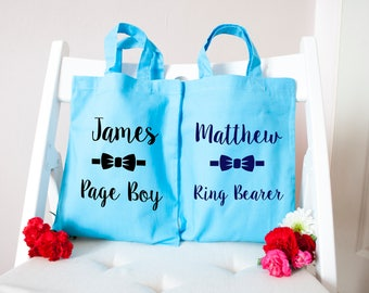 Personalised Perfect Page Boy Bag - Page Boy Gifts - Wedding Gifts - Party & Favour Bags - Tote Bags - Kids and Baby Gifts - Customisable