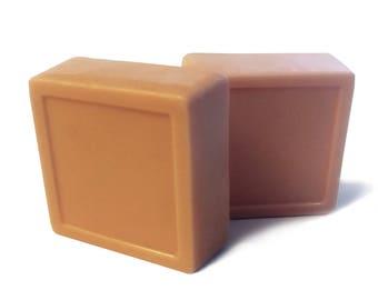 Hand made Natural Vegan Creamsicle Goat's Milk glycerin soap 4 oz, moisturizing summer soap