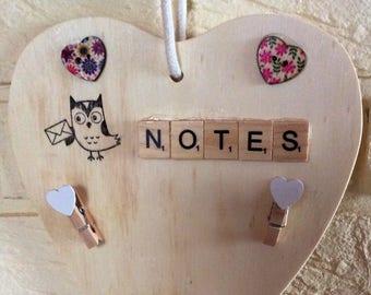 Hanging Heart memo board