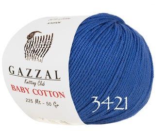 GAZZAL Baby Cotton summer yarn spring yarn color choice hand knit yarn baby yarn cotton yarn soft yarn knitting cotton yarn baby cotton