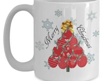 Red Ornament Christmas Tree Mug