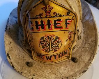 Vintage Cairns Newton Fire Chief's Helmet