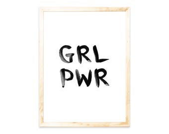 Poster, GRL PWR, quote, Nordic, quote, saying, Gilrs