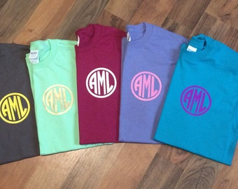 Monogram Tee with circle outline