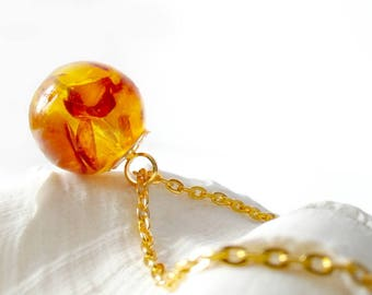 Fine Amber necklace 45 cm Ø 16 mm amber Necklace pendant (0084/K45)