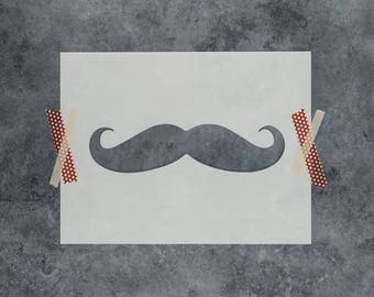 Mustache Stencil - Reusable DIY Craft Stencils of a Mustache