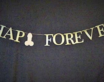 Hap-penis Forever Banner   Hap-penis & Wedding Bliss Banner   Bachelorette Banner   Bridal Shower Decor   Funny Banner   Glitter Banner