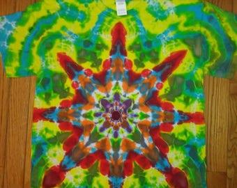 Med. Mandala star tie dye t-shirt