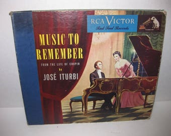 From the Life of Chopin - Jose Iturbi - 78 RPM Record Set