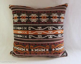 Designer throw pillow, cotton pillow, tribal pillow cover, southwestern pillow cover, boho pillow, shabby chic pillow