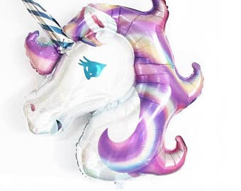 Unicorn 33 inch balloons, Baby Shower, Unicorn Party, Birthday Pary, First Birthday, Marble Balloons, Party Decor, Party Supplies