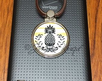 Pineapple Ring Stand for Cell Phone by Joanne Krapf