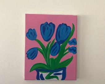 Blue Tulips.