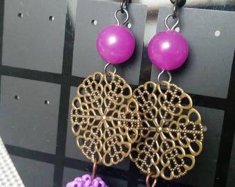 tunis seed beads earrings