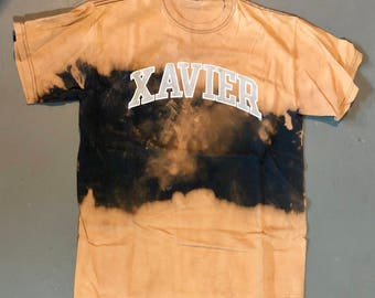 Vintage Bleached Xavier University T-Shirt