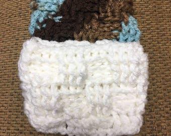 Crochet coffee cozy/coffee cozy/ mug cozy/coffee sleeve/basket weave/stocking stuffer