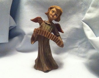 Vintage Made in Italy 029 Angel Instrument Putti Putto no Wood