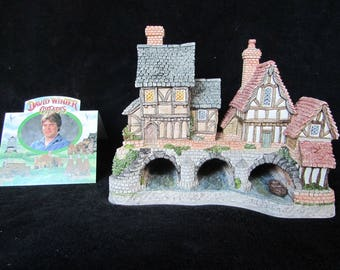"Vintage David Winter Cottages  ""ARCHES THRICE"" 1993 SIGNED!"
