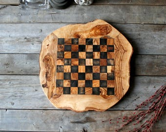 Chess set , wooden chess board, chess board,  wooden chess, checkerboard, christmas gift, gift for him, gift for her, gift, wood board games