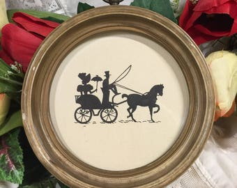 Silhouette framed vintage wall decor