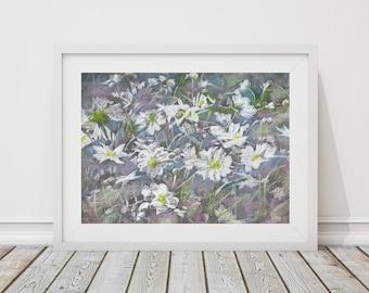 Original Pastel Painting, Flowers, 18 x 24, Fine Art, Soft Pastel, Original Artwork, Wall Art, Contemporary Art, Pastel Landscape