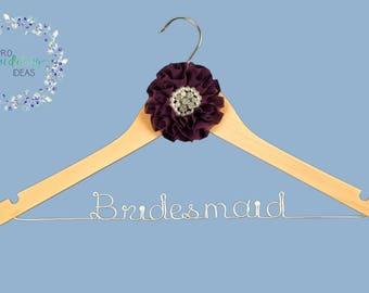 Bridesmaid Personalised Wedding Dress Coat Hanger * Parisian Style *