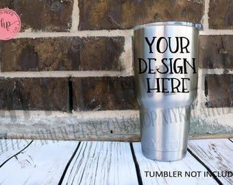 Custom Tumbler Vinyl Decal - DIY