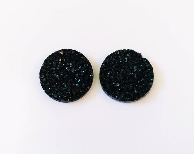 The 'Onyx' Druzy Earring Studs