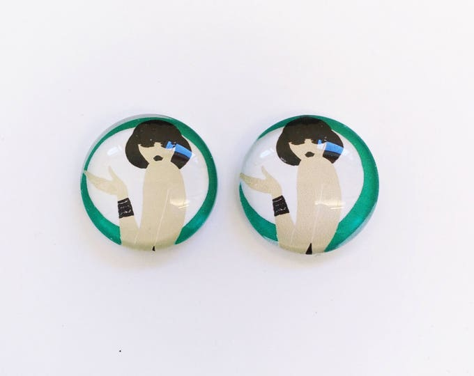 The 'Bally' Glass Earring Studs
