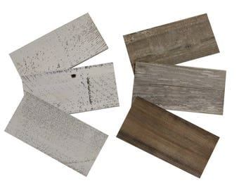 Sample Pack - Reclaimed Barn Wood & Whitewash Barn Wood Planks