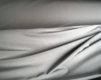 Synthetic fabric grey stretch lycra type