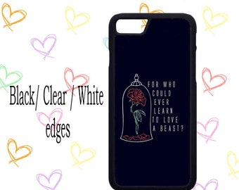 beauty and the beast learn to love quote disney Iphone / Samsung mobile phone case 4/4s/5/5s/6/6s7/7s(+)