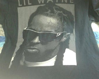 Rare Rapper Lil Wayne Portrait Black Rap Tee Official Young Money Enterprises Super Soft Gangster Vibes Size Large New Orleans Cash Money