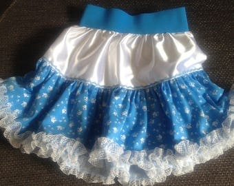 Girl's skirt with cat motif, fashion girl, children, gift, fashion