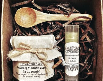 Artisinal Sugar Lip Scrub & Lip Balm Set