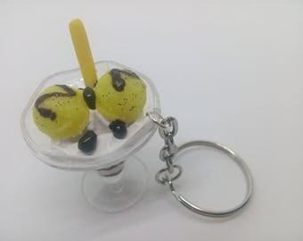 Vanilla ice cream Cup keychain